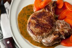 Easy Baked Pork Chops with White Wine–Mustard Sauce