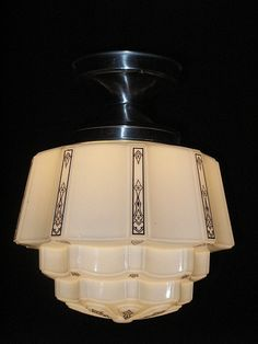 Find antique lighting on RubyLane.com light fixtur, lighting fixtures, art deco kitchens, find antiqu, antiqu light, 1930 art, kitchen designs, deco antiqu, antiques