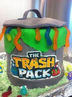 Jaxon's 9th Birthday Trash Pack cake.
