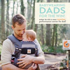 babywearing dads for the win! dad, enter a photo or video  tell us why babywearing is important for dads and/or why you love babywearing for a chance to win an ergobaby performance carrier - ventus!   enter now [cut + paste the link since pinterest won't let us link to facebook]: http://bit.ly/1l0fRtT  OR visit ergobaby's facebook page for more information!  #babywearing #babywearingdads #ergobaby #lovecarrieson #ergobabydads
