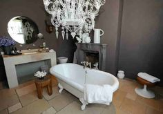 London Victorian ~ Eclectic Style Utilizes a Mix of Furnishings & Accessories from Different Periods ~ Bath Perspective
