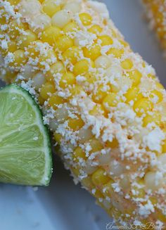 Mexican Corn with Cotija Cheese and Lime