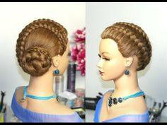 ▶ Braided updo, hairstyles for long hair. Прическа с плетением на длинные волосы. - YouTube Favorit Hairstyl, Braid Updo, Dutch Braid