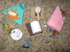 girl scout swaps - camping theme