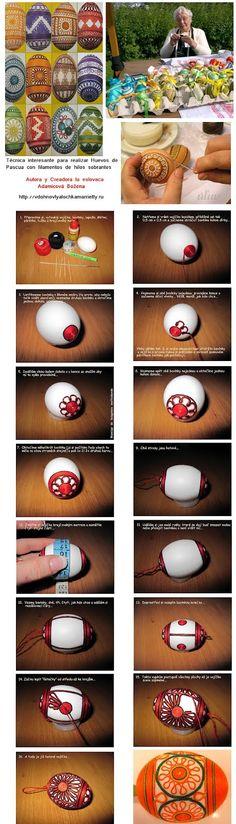 huevo forrado de hilos sobrantes