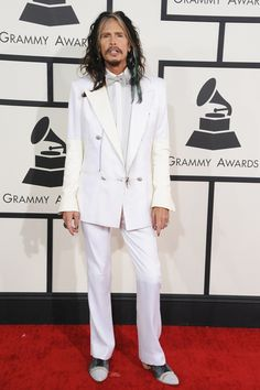 Steven Tyler arrives at the 56th Annual GRAMMY Awards on Jan. 26 in Los Angeles
