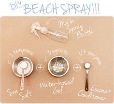 DIY Sea Salt Spray (Texture)