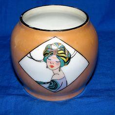 Noritake China Art Deco Lustreware Tobacco Jar Base No Lid | eBay