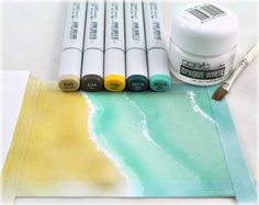 copic card, creat wave, waves, clever craft, card techniqu, copic marker, awesom techniqu, background detail, debbi olson