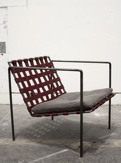 Eric Trine Leather Woven Armchair | Remodelista