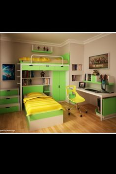 Awesome bedroom for twins