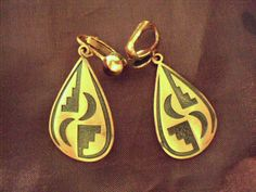 Solid Copper Vintage Native Earrings, on Etsy at RetroRosiesVintage
