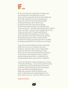 If, by Kipling