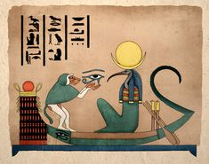 Egyptian Art Print Thoth Ancient God Of Knowledge at TigerHouseArt