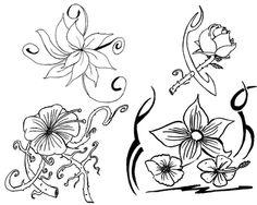 Muitas flores para colorir rosas e outros tipos de flores para pintar ...