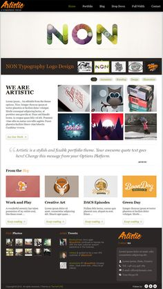 Artistic WordPress Theme