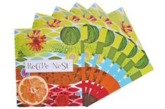 Pretty dividers for your Recipe Nest.