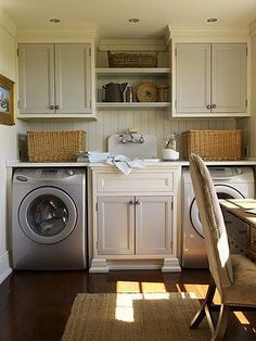 sink between laundry units