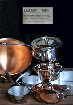 Cookware gift that took my breath away @mauviel1830. Shiny,beautiful,impeccably crafted,made with love in France #copperware #Mauviel1830 #kitchen #foodprops