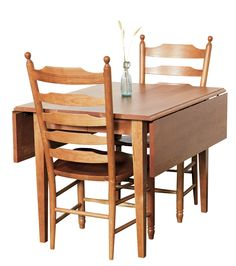 Drop Leaf Dining Table. Perfect furniture for a small kitchen or dining room.