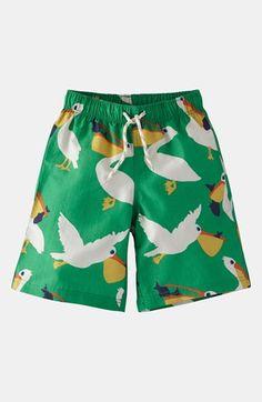 Broccoli Pelicans Toddler Swim Shorts | Mini Boden