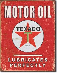 #vintage metal #signs decor- #Texaco Sign #Motor #Oil