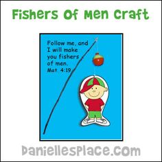 Fishers of Men Bible Craft from www.daniellesplace.com