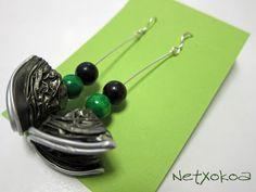 Pendientes hechos con cápsulas nespresso.    Earrings of capsules nespresso.