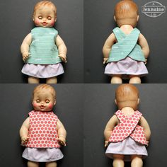 Reversible Doll Pinafore Pattern: Little Stitchers - welcometothemousehouse.com