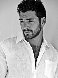 This Handsome Scruffy Bearded Man Stranger. scruffi beard, beards, scruffy men, handsome men, handsome guys, hotti, andrew papadopoulo, handsome black men, handsom scruffi