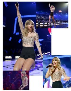 Taylor Swift wearing Rachel Gilbert's Delfina top in nude. She looks absolutely gorgeous performing at the I Heart Radio show in Las Vegas, September 22, 2012.