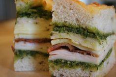 mini Italian club sandwiches - original recipe from Giada on food network!