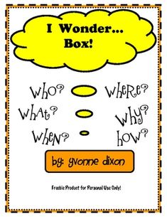 """This is a great resource to have in your classroom for those times your students come to you with """"off the topic"""" questions or questions you th..."""