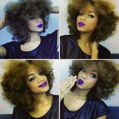 Love the hair and lipstick!