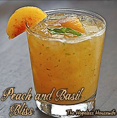 Peach and Basil Bliss