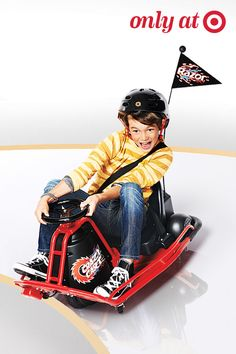 This Razor Crazy Cart drives and drifts forward, backward, sideways and diagonally—a must-have Christmas gift for kids who love go-carting.