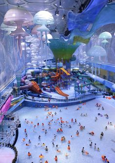 Water cube water park  Beijing,China. -Was the the 2008 Olympic Pool Before Re-Design.