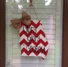 Georgia Door Hanger by FortSturgeon on Etsy, $25.00