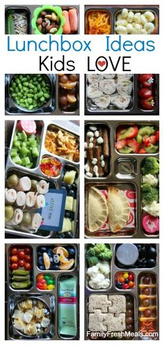 School lunch box ideas your kids will LOVE! | via @Christianne Marra Crump Fresh Meals
