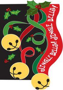 Jingle Bells Christmas Garden Flag