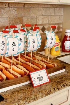 Fun hotdogs for a pirate party!