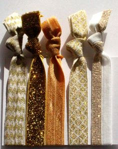 Gold glamour Great hair ties, creaseless,easy on your hair and great gift ideas.