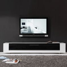 Roma Remix Infrared-remote Compatible White TV Stand | Overstock.com