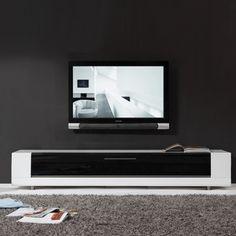 Roma Remix Infrared-remote Compatible White TV Stand | Overstock.com