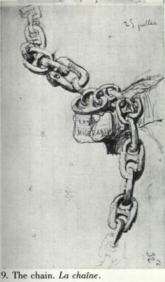 From Victor Hugo's sketchbook - a drawing of The Chain from Les Miserables.