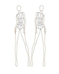 Female Fashion Croquis Templates
