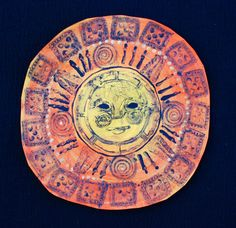 That artist woman: Aztec Sun Stones  Printed parts to make a whole radial design