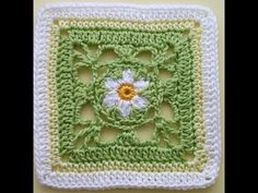 "How to Crochet * Granny Square ""Springtime"""