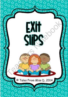 Exit Slips : Smart Phone Theme from Tales From Miss D! on TeachersNotebook.com -  (11 pages)  - A set of 10 (+ 1 blank) exit slips in the shape of a phone.