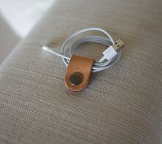 Leather Cable Holder